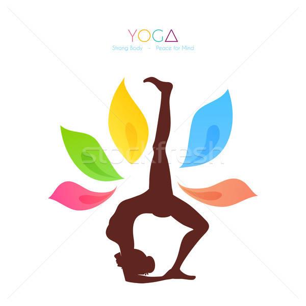 Stock photo: Beautiful woman doing yoga