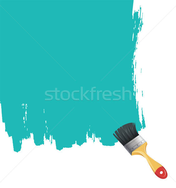 Paint brush with blue splash Stock photo © anastasiya_popov