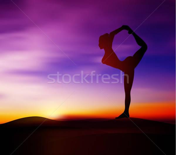 Yoga pose silhouette Stock photo © anastasiya_popov