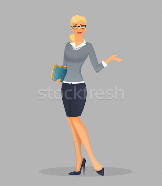 Teacher woman with books Stock photo © anastasiya_popov