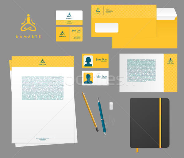 Yoga studio branding set Stock photo © anastasiya_popov