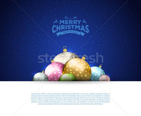 Natale modello luce sfondo star Foto d'archivio © anastasiya_popov