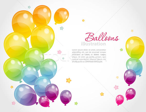 Coloré ballons eps 10 fête design Photo stock © anastasiya_popov