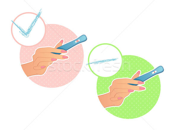 Woman's hand holds a test on pregnancy Stock photo © anastasiya_popov