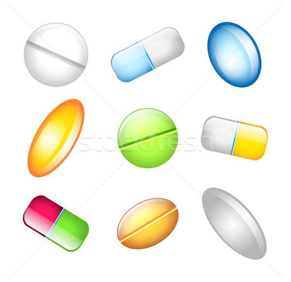 иконки таблетки дизайна здоровья искусства больницу Сток-фото © anastasiya_popov