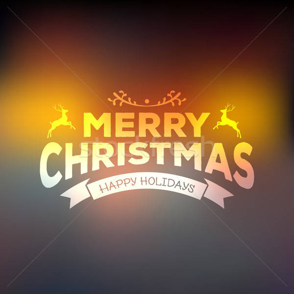 Christmas calligraphy on blured background Stock photo © anastasiya_popov