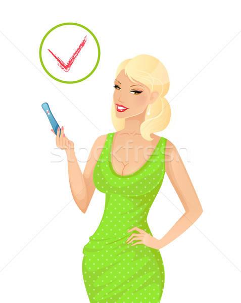 Kobieta test ciążowy eps 10 baby Zdjęcia stock © anastasiya_popov