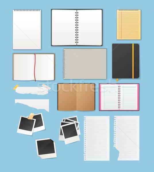 Set include notebooks and papers Stock photo © anastasiya_popov