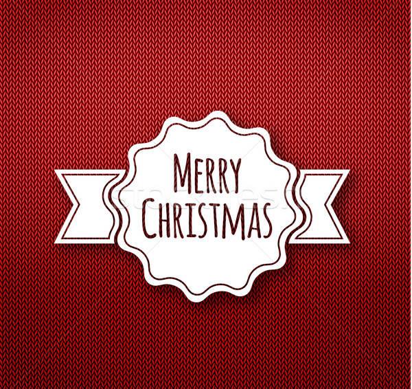 クリスマス 書道 編まれた パターン 絵画 ギフト ストックフォト © anastasiya_popov