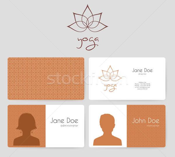 Logo Visitenkarten Yoga Studio Frau Mädchen