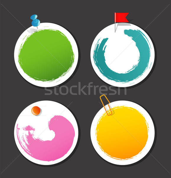 Set of color stickers with splash Stock photo © anastasiya_popov