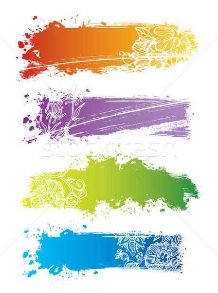 Splash banners Stock photo © anastasiya_popov