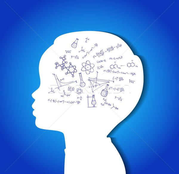 Zdjęcia stock: Dziecko · głowie · edukacji · ikona · eps · 10