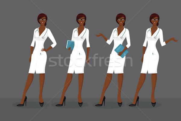 Woman doctor in various poses Stock photo © anastasiya_popov
