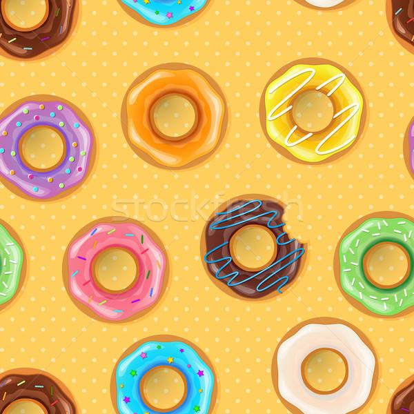 Kolorowy czekolady sztuki ciasto Zdjęcia stock © anastasiya_popov