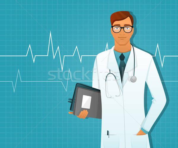 Doktor adam beyaz üniforma tıbbi sanat Stok fotoğraf © anastasiya_popov