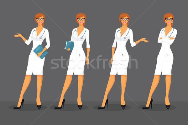Mujer médico arte gafas medicina Foto stock © anastasiya_popov