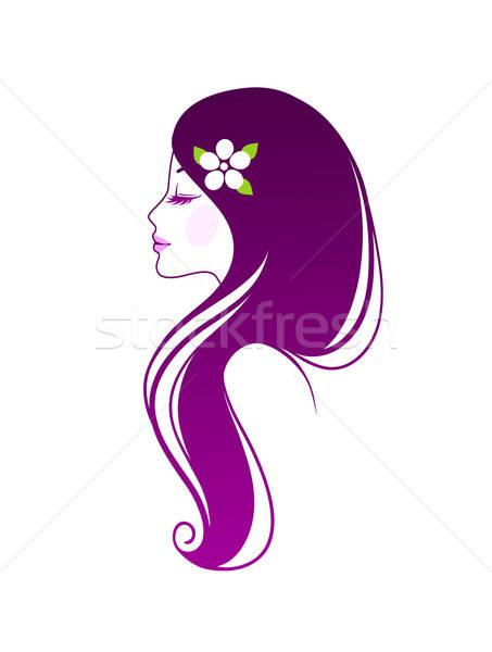 Piękna kobieta eps 10 kwiat miłości moda Zdjęcia stock © anastasiya_popov