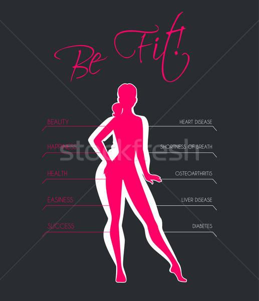 Problémák túlzás súly lány test fitnessz Stock fotó © anastasiya_popov