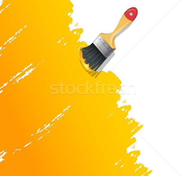 Paint brush with splash Stock photo © anastasiya_popov