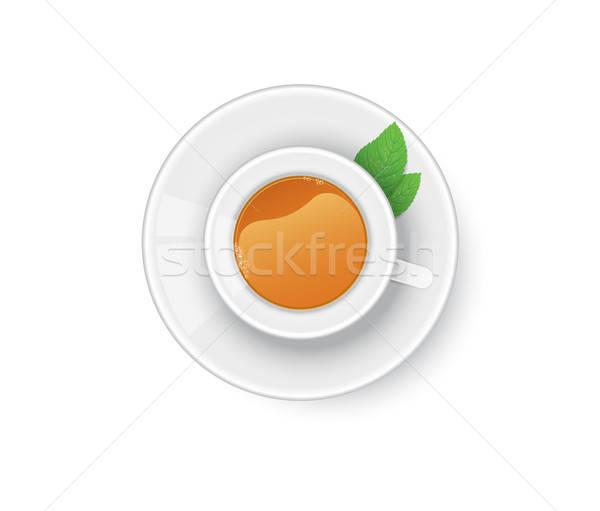 Taza té menta médicos naturaleza diseno Foto stock © anastasiya_popov