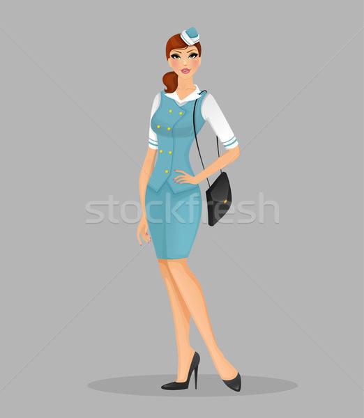Girl in stewardess uniform Stock photo © anastasiya_popov