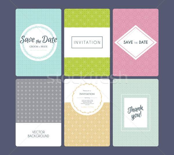 Wedding invitation cards set Stock photo © anastasiya_popov