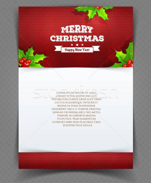 Natale indietro foglie cielo design foglia Foto d'archivio © anastasiya_popov
