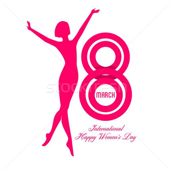 Mutlu kadın gün kadın yüz moda Stok fotoğraf © anastasiya_popov