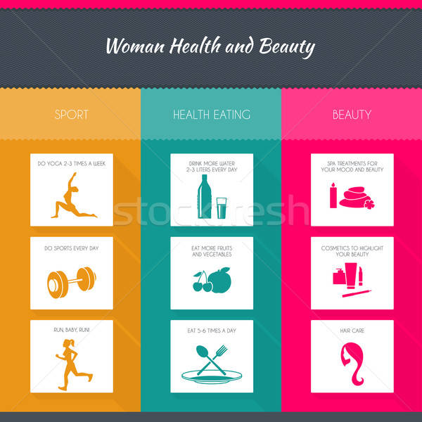 Health and woman beauty infographics Stock photo © anastasiya_popov