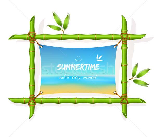 ビーチ 夏 幸せ 風景 海 芸術 ストックフォト © anastasiya_popov