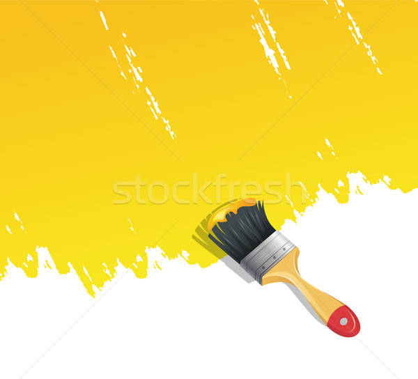 Background with paint brush Stock photo © anastasiya_popov