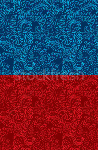 Adamaszek wzór wzrosła charakter piękna tapety Zdjęcia stock © anastasiya_popov