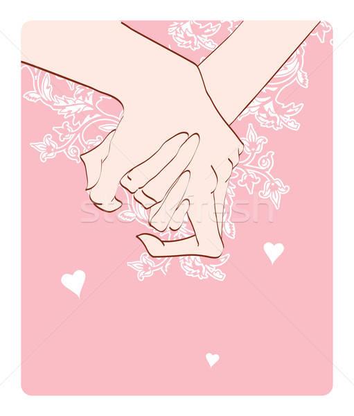 human hands with heart Stock photo © anastasiya_popov