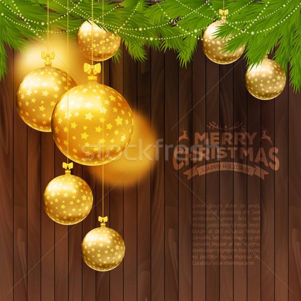 Christmas drewna projektu sztuki Zdjęcia stock © anastasiya_popov