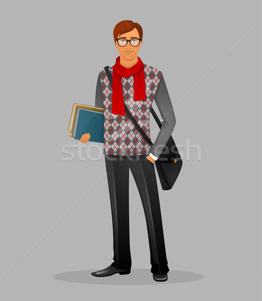писателя человека книгах бизнеса книга моде Сток-фото © anastasiya_popov