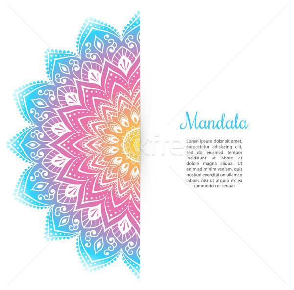 色 曼陀羅 テンプレート 図書 抽象的な 芸術 ストックフォト © anastasiya_popov