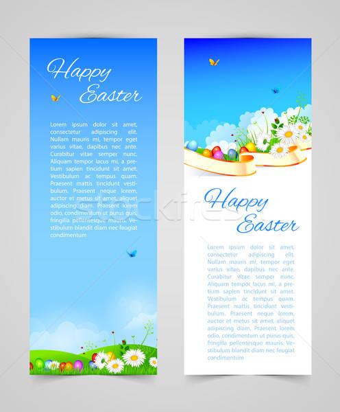 Húsvét design sablon eps 10 égbolt papír Stock fotó © anastasiya_popov