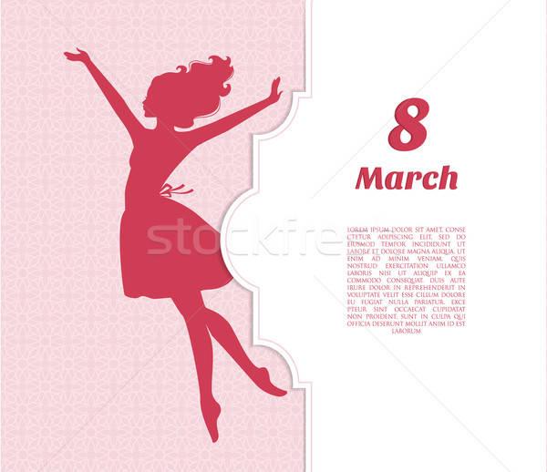 Szczęśliwy kobiet dzień dziewczyna moda zdrowia Zdjęcia stock © anastasiya_popov