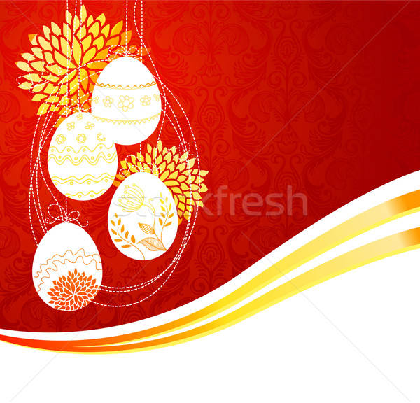 Egg frame easter background Stock photo © anastasiya_popov