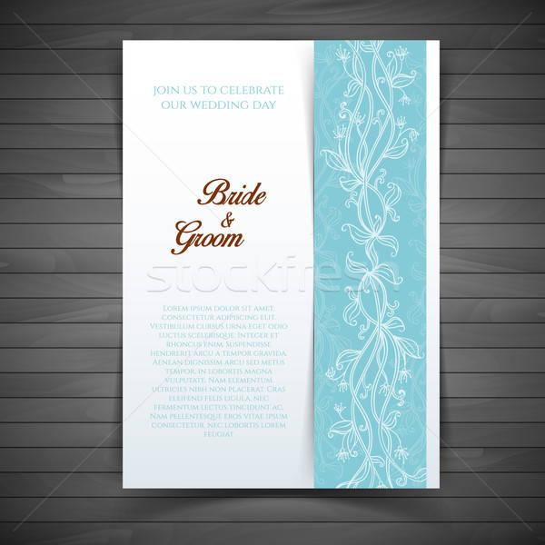 Düğün davetiyesi eps 10 çiçek çiçekler kâğıt Stok fotoğraf © anastasiya_popov