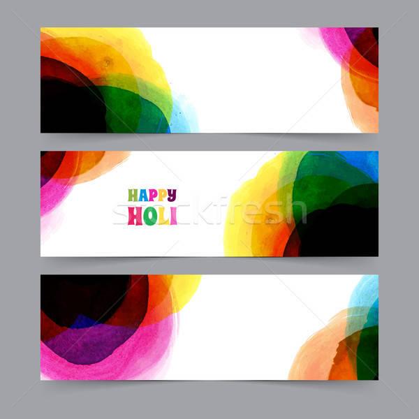 Happy Holi card template Stock photo © anastasiya_popov