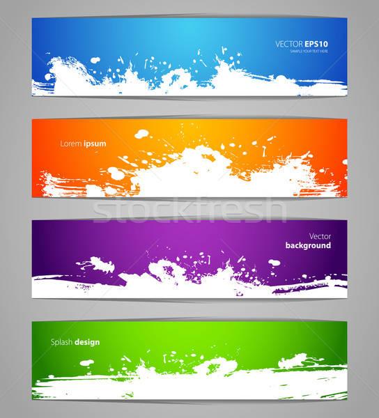 Splash designs set Stock photo © anastasiya_popov