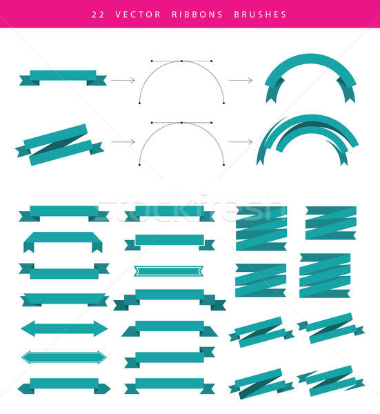 Set include 22 vector ribbons Stock photo © anastasiya_popov