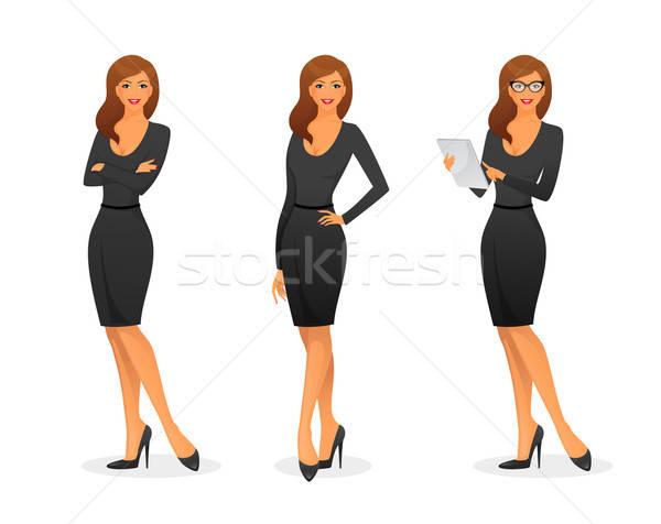 Kobieta interesu różny działalności papieru student sztuki Zdjęcia stock © anastasiya_popov