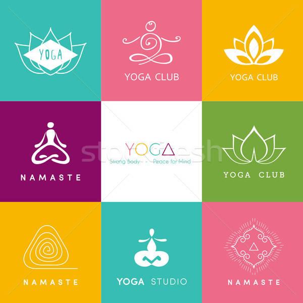 Logo for a yoga studio Stock photo © anastasiya_popov