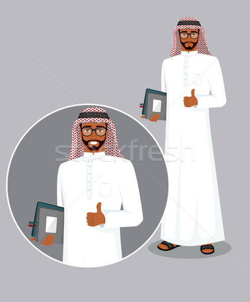 Arabic man character image Stock photo © anastasiya_popov