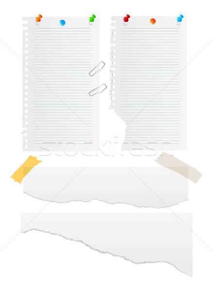 Paper vector set Stock photo © anastasiya_popov