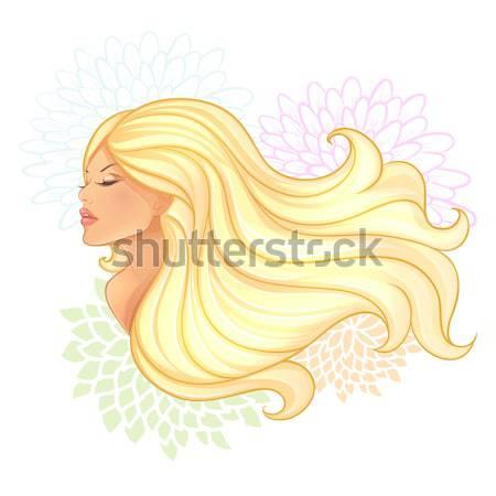 Belle jeune femme mode fond art signe Photo stock © anastasiya_popov