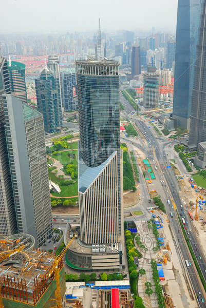 Pudong district in Shanghai Stock photo © anbuch